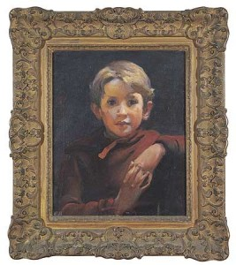 -Cummings as a child by Charles Sydney Hopkinson